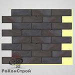 Термопанель с клинкерной плиткой Keravette Flame 336 metallic schwarz