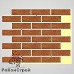 Термопанель с клинкерной плиткой Keravette Shine 841 rosso